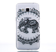 TPU Material Black Elephant Pattern Cellphone Case for Samsung Galaxy J710/J510/J5/J310/G530/G360