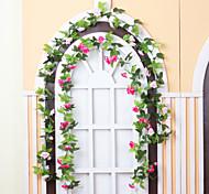 Недорогие -1 Филиал Полиэстер Пластик Другое Розы Цветы на стену Искусственные Цветы