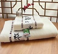 Недорогие -Свежий стиль Набор банных полотенец, Жаккард Высшее качество 100%бамбуковое волокно Жаккардовое плетение Полотенце