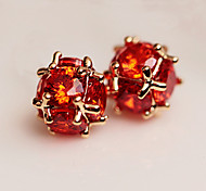 Women's Stud Earrings Fashion Zircon Cubic Zirconia Round Jewelry For Daily Casual