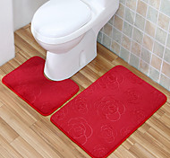 Casual Style Polyester Bath Rugs Set (2 Pieces 40*50CM+50*80CM)