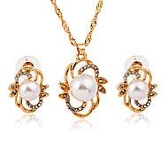 abordables -Mujer Cristal Perla artificial Perla Artificial Diamante Sintético Conjunto de joyas 1 Collar Pendientes - Sensual Moda Irregular Juego