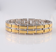 cheap -Men's Stainless Steel Others Chain Bracelet ID Bracelet - Fashion Golden Bracelet For Christmas Gifts Daily Casual