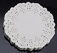 """Недорогие -6.5 """"кружева раунд 100шт бумажные салфетки торт ремесла подставки для свадебных торжеств стол стол 16 см"""