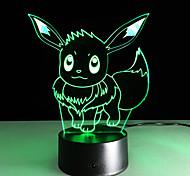 1шт 2016 новый Ибрагимович 3d огни цветной сенсорный свет водить визуальный подарок атмосферу декоративный светильник