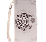 Painted Datura Flowers Pattern Card Can Lanyard PU Phone Case For Sony Z2 Z3 Z3mini M4