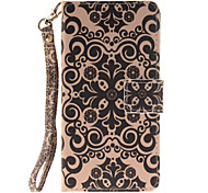 Painted Palace Flower Pattern Card Can Lanyard PU Phone Case For Samsung Galaxy G530 G360 J1 J3 J5 (2016)