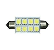 "4 X White 42MM 5050 8SMD Festoon 1.7"" Dome Map Interior LED Light bulb 211-2 578"