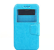 Недорогие -Для Кейс для HTC со стендом / с окошком / Флип Кейс для Чехол Кейс для Один цвет Твердый Искусственная кожа HTCHTC Desire 826 / HTC