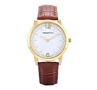 REBIRTH® Women's Watch Simple Fashion PU Leather Strap Quartz Wrist Watch