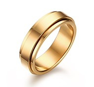 Men's Stainless Steel Ring Simple Rotating Golden Wedding / Party / Daily / Casual 1pc Band Rings Christmas Gifts