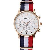 High Quality Quartz Dress Watches Women Men Casual Wristwatch Nylon Strap Rose Gold Hour Unisex Sports Watches