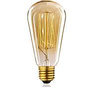 ST64 60W Vintage Antique Edison Style Incandescent Clear Glass Light Lamp Bulb(AC220-240V)