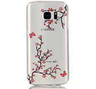 Butterfly 3D Relief Feeling Super Soft Pack Transparent TPU Phone Case for Samsung Galaxy S6/S6 Edge/S7/S7 Edge