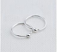 Недорогие -Жен. Серьги-кольца Мода Стерлинговое серебро Круглый Бижутерия Повседневные