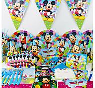 78pcs день рождения украшения украшения дети участник вечеринки партия украшения 6 человек