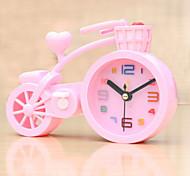 (Случайный цвет) форма велосипеда студенты часы немой сигнализации электронные часы ленивым спальня небольшая сигнализация