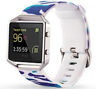 Недорогие -Белый / Зеленый / Синий силиконовый Style trends+Silicone material Спортивный ремешок Для Fitbit Смотреть 23мм