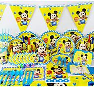 роскошные украшения день рождения украшения детских evnent партийные поставки партия micey ребенок 78pcs 6 человек используют