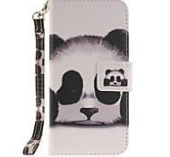 Panda PU Leather for iphone7 6Splus 6plus 6S 6 SE 5S 5 iPhone Cases