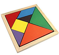 cheap -Tangram Jigsaw Puzzle Wooden Puzzle Educational Toy Colorful Wooden Classic & Timeless Girls' Gift