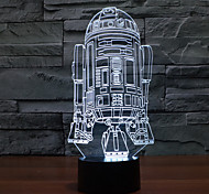 Недорогие -военный прикосновение dimming 3d led night light 7colorful decor атмосферу лампа новинка освещение свет