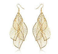 cheap -Women's Tassel Leaf - Tassel / Bohemian / Fashion Golden Earrings For Daily / Casual