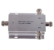 3-Way N Female Power Divider Splitter 800-2500MHz for Mobile Phone Signal Booster Repeater