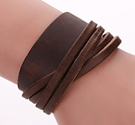cheap -Men's Women's Leather Bracelet Wrap Bracelet Bohemian Handmade Fashion Adorable Leather Alloy Geometric Jewelry Christmas Gifts Party