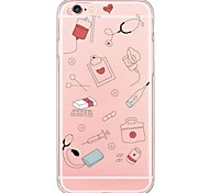 Hospital Life Pattern Soft Ultra-thin TPU Back Cover For iPhone 6s Plus/6 Plus/6s/6/5s/5/SE