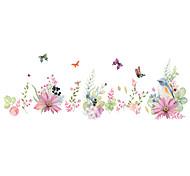 Животные / Романтика / Цветы Наклейки Простые наклейки Декоративные наклейки на стены,PVC материалВлажная чистка / Съемная / Положение