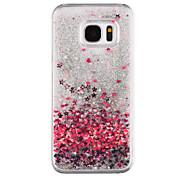 Liebesmuster fließenden Treibsand Liquid Glitzer Plastik Pc für Samsung Galaxy S7 Edge Galaxy S7 S8 plus S8