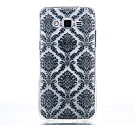 TPU Material Black Palace Flower Pattern Cellphone Case for Samsung Galaxy J710/J510/J5/J310/G530/G360
