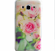Pink Flowers Pattern Material TPU Phone Case For Samsung Galaxy J5 J5(2016) J3(2016)