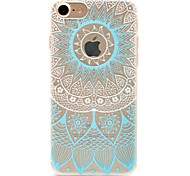 cheap -Case For Apple iPhone 5 Case iPhone 6 iPhone 7 Pattern Back Cover Lace Printing Soft TPU for iPhone 7 Plus iPhone 7 iPhone 6s Plus iPhone