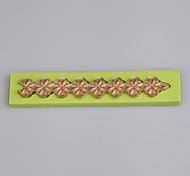 baratos -Flores forma strip cozinha acessórios para cookie fondant bolo cupcake ferramentas cor aleatória