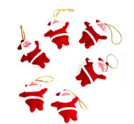 6PCS Little Red Santa Claus Christmas Decoration Christmas Gifts/Christmas Products/Christmas Tree
