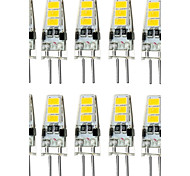 1.5W G4 Luces LED de Doble Pin T 6 leds SMD 5733 Impermeable Decorativa Blanco Cálido Blanco Fresco 150-200lm 3000/6000K DC 12V