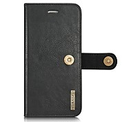 Solid Color Two-in-One Genuine Leather Cowhide Mobile Phone Case Holster for Iphone  7 7Plus 6s 6sPlus 6 6 Plus