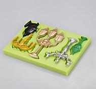 Горячий оптовый прямоугольник 5 в 1 силиконовые формы ювелирных изделий торт формы фондант торт инструменты цвет случайный