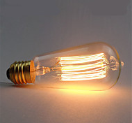 1pcs ST58 40W E27 Vintage Retro Incandescent Filament Edison Lamp Bulb(AC220-240V)
