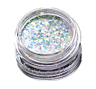 1 Bottle Nail Art Match Color Highlight Glitter Shining Colorful Powder Nail Makeup Beauty 01