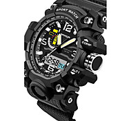 cheap -SANDA Men's Japanese Quartz Wrist Watch Smartwatch Sport Watch Chronograph Water Resistant / Water Proof LED Noctilucent Stopwatch Dual