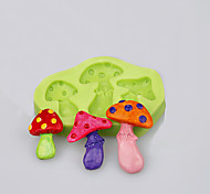 Mushroom Shape Mold For Fondant Cake Cookie Tools Decoration Baking Ware Silicone Mold Ramdon Color