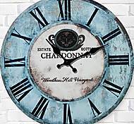 1PC Archaize Clock Fashion Color Round Digital Wall Clock The Sitting Room  The Clock Retro horologe (Pattern is Random)