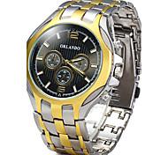 cheap -Men's Quartz Wrist Watch / Hot Sale Alloy Band Casual Dress Watch Fashion Cool Gold