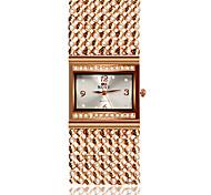 SOXY® Fashion Women's Business Dress Watch Ladies' Alloy Imitation Diamond Analog Quartz Bracelet Watch