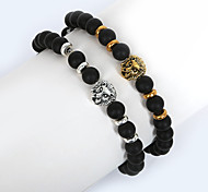 Men's Strand Bracelet Fashion Costume Jewelry Glass Alloy Round Animal Shape Lion Jewelry For Daily Casual Sports Christmas Gifts