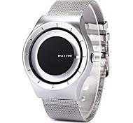 Недорогие -Муж. Наручные часы Уникальный творческий часы Нарядные часы Модные часы Кварцевый / Нержавеющая сталь Группа Cool Черный Белый