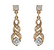 Pendientes colgantes Zirconio Chapado en Oro La imitación de diamante estilo de Bohemia Elegant Forma Geométrica Dorado JoyasFiesta